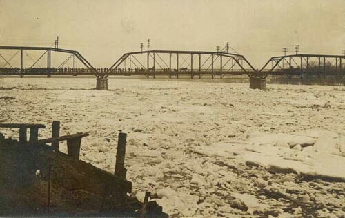 Postcard of Flood of Mar. 2, 1910